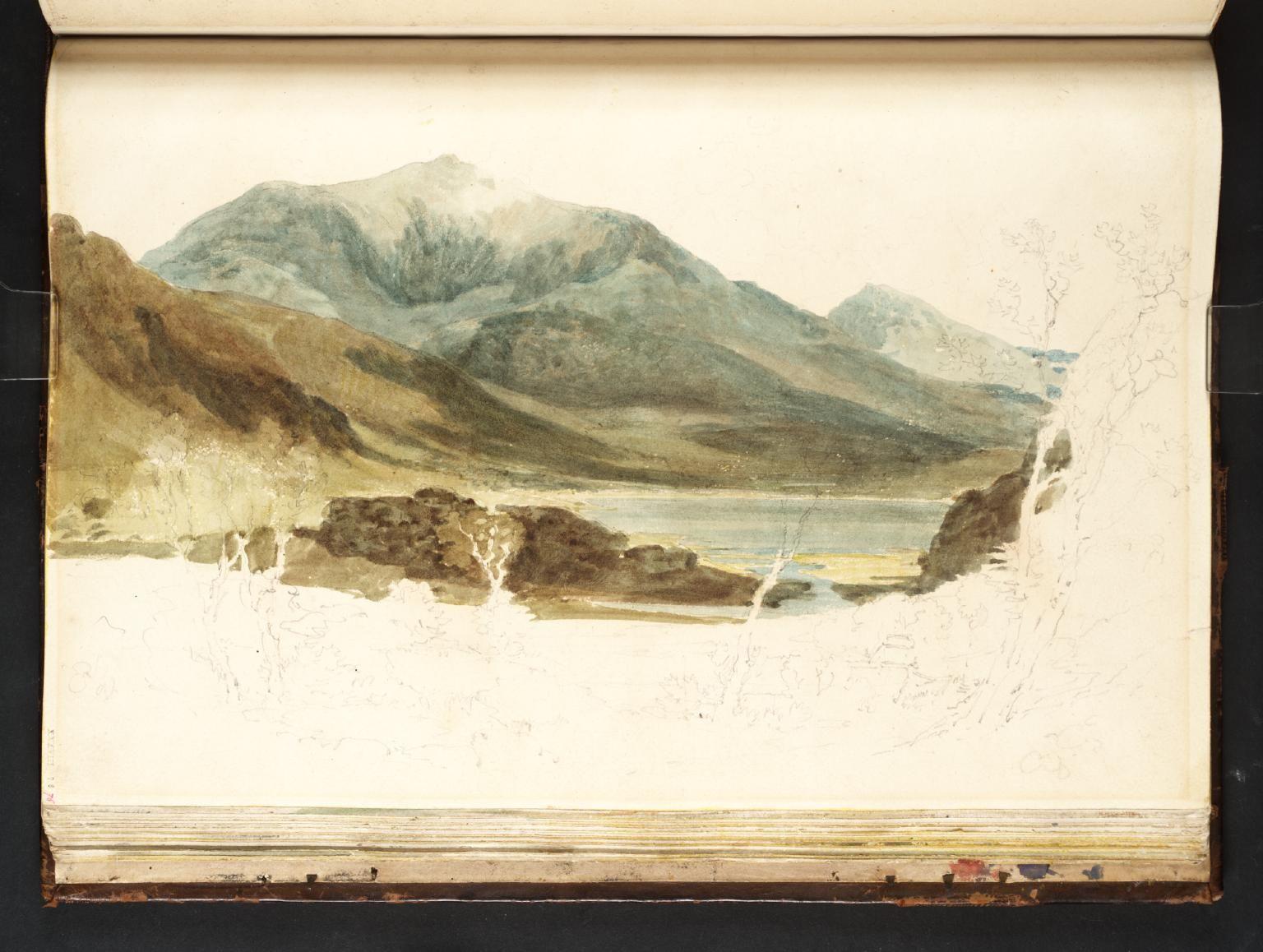 Joseph Mallord William Turner 'Snowdon and Yr Aran from Llyn Cwellyn', 1798