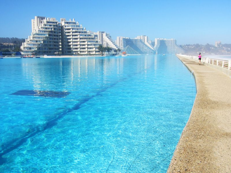 there are many swimming pools around the world but the largest swimming pools are rare to see the largest amazing swimming pool in the world belongs to san