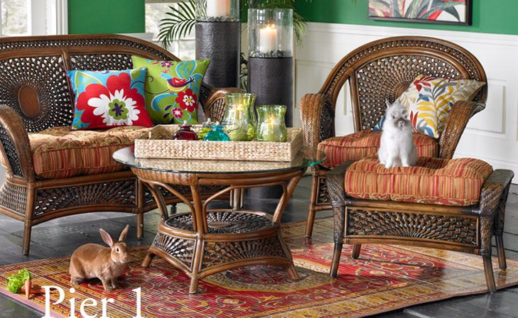 Pier 1 Furniture. Would Love This On My Patio. Change The Pillows Each  Season