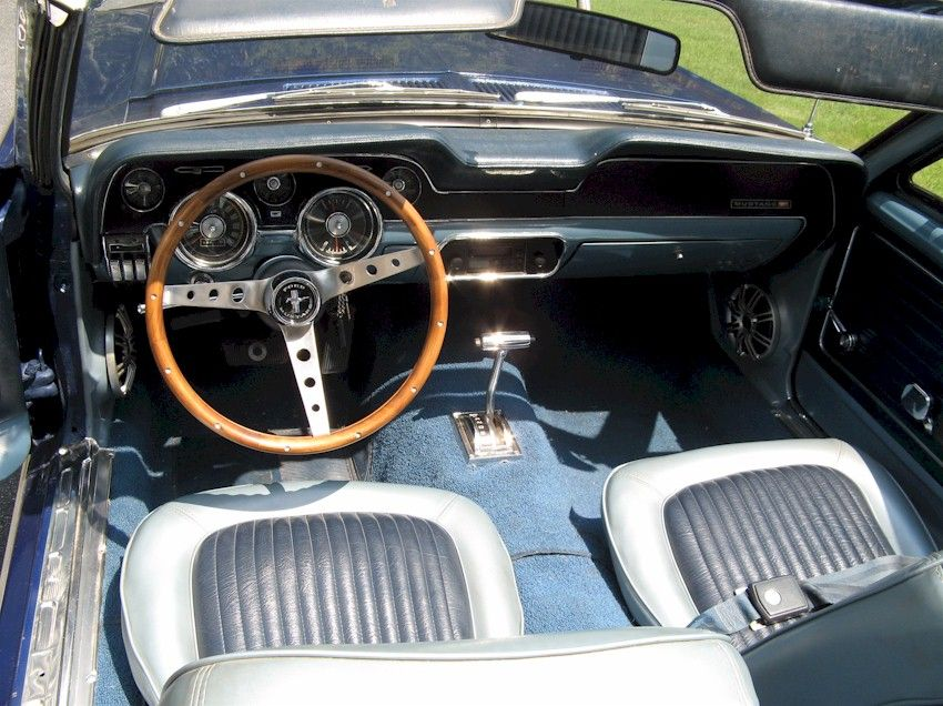 Vista Blue 1968 Mustang Convertible Mustang Convertible Ford Mustang Convertible Mustang