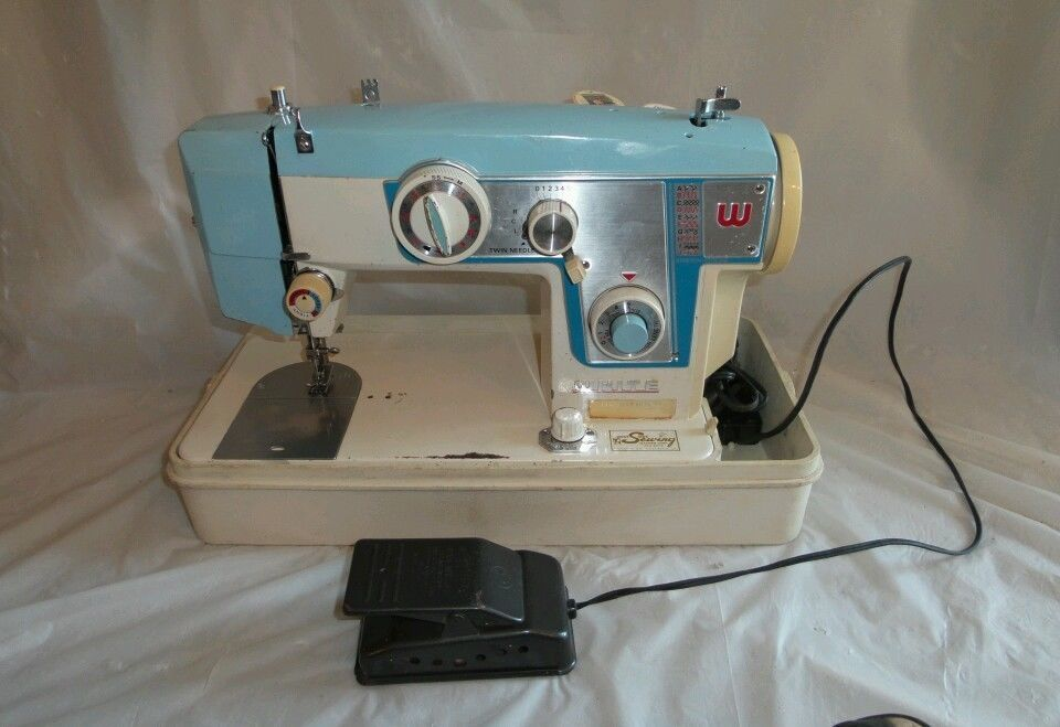 SERVICED WORKS RARE VINTAGE WHITE 40 HEAVY DUTY METAL SEWING Magnificent White Heavy Duty Sewing Machine