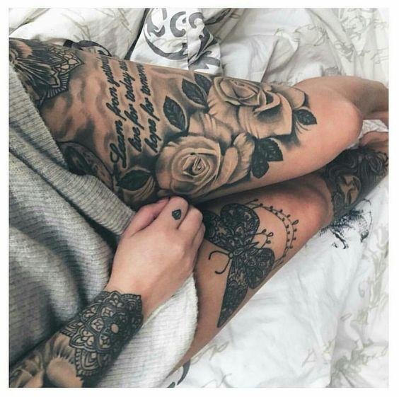 Magnificos Diseños De Tatuajes Para Mujeres En La Pierna