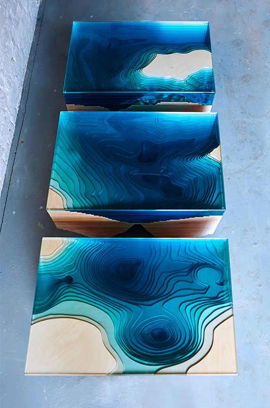 Atlantis Table Place Pinterest Duffy Atlantis And Ocean - Incredible layered glass table mimics oceans depths