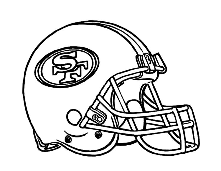 Football Helmet San Francisco 49ers Coloring Page For Kids