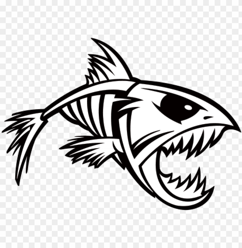 Transparent Bones Fish Fish Skeleton Svg Free Png Image With Transparent Background Png Free Png Images Fish Silhouette Fish Skeleton Animal Sketches