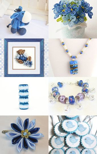 beautiful blue by styledonna on Etsy--Pinned with TreasuryPin.com
