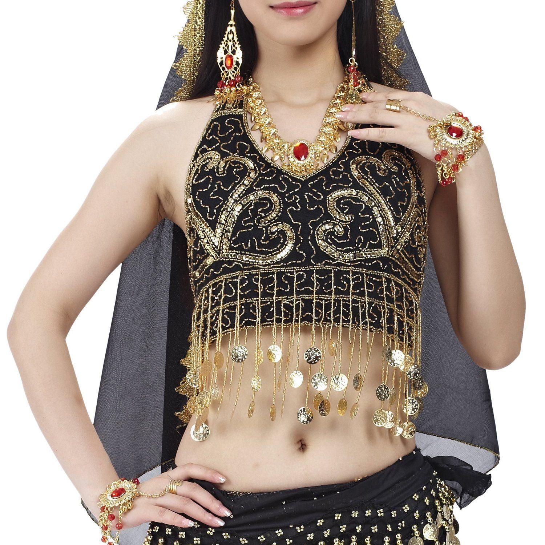 Amazon com: BellyLady Tribal Belly Dance Costume Halter