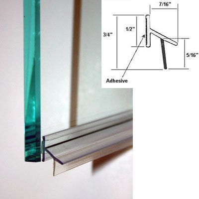 Clear Polycarbonate Drip Rail And Sweep Combination W Vhb Tape For