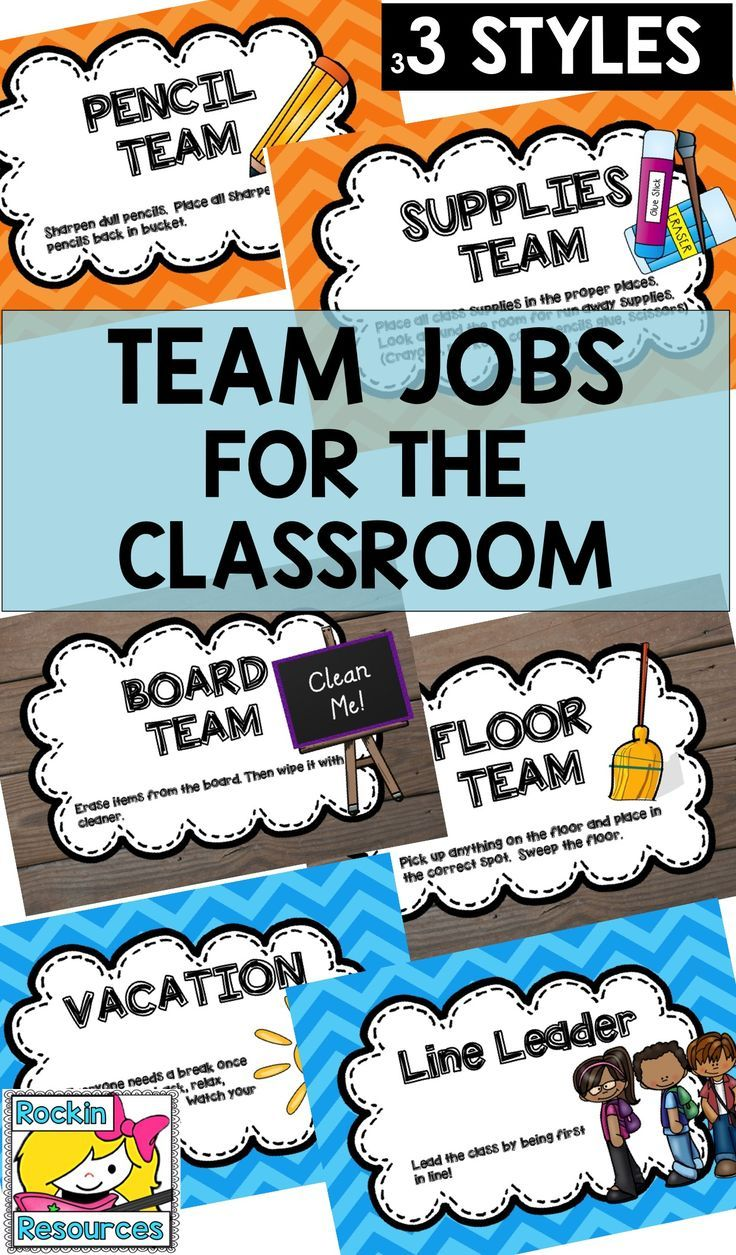 Classroom Jobs Team Jobs Editable Classroom jobs