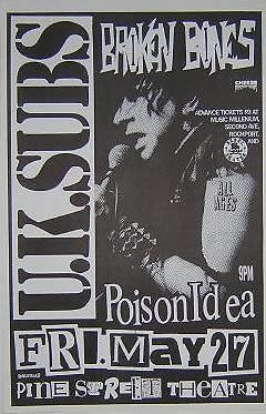 Amazon com: UK Subs Poison Idea Broken Bones Rare Original