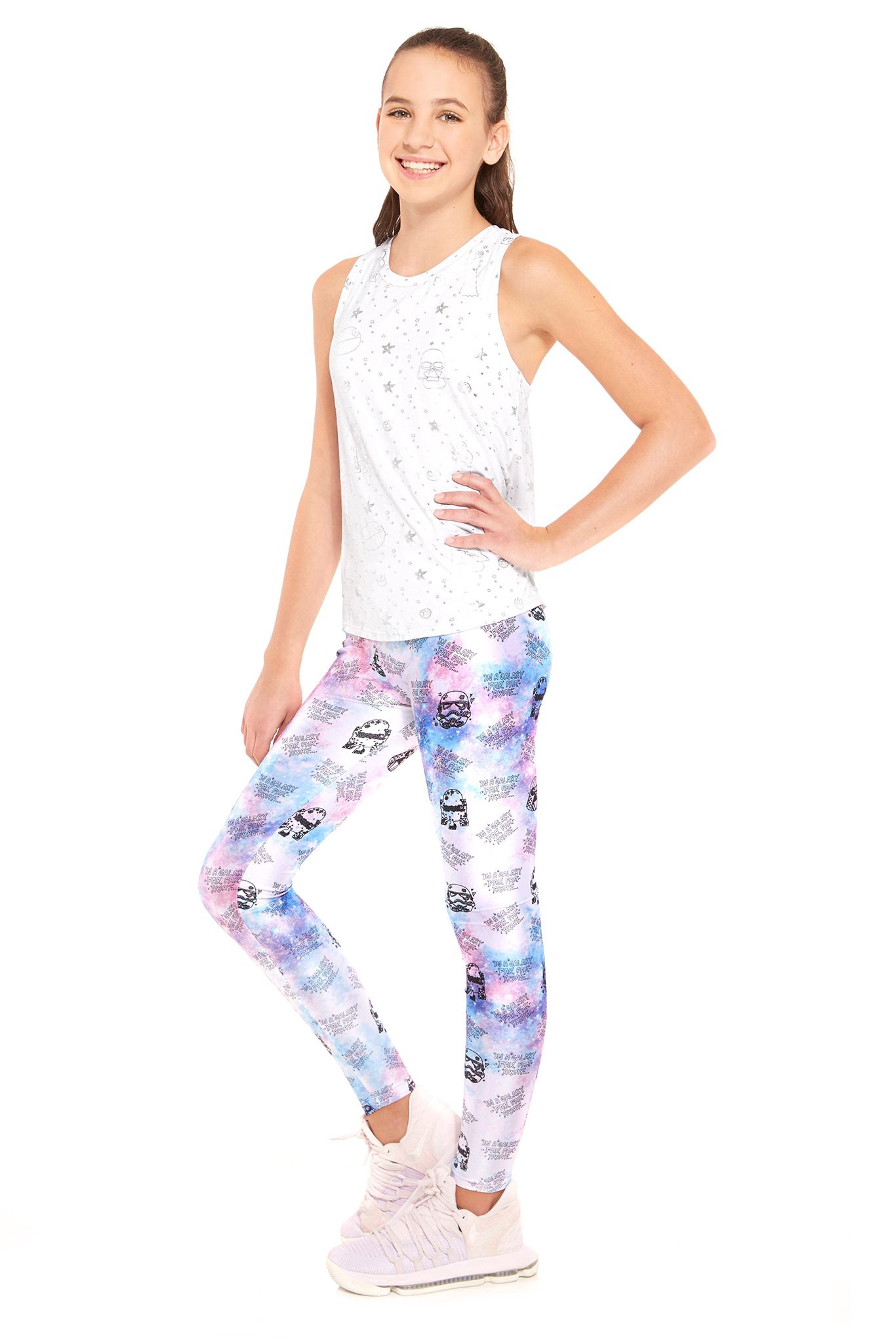 12d15fa223a5f Terez Girls Star Wars Galaxy Leggings - 4 Pink in 2019 | Products ...