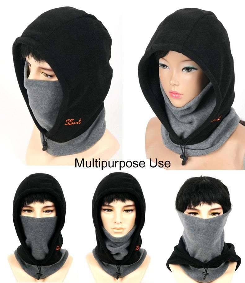 Full Face Mask Neck Warmer Hood Balaclava Outdoor Winter Sports 3 In