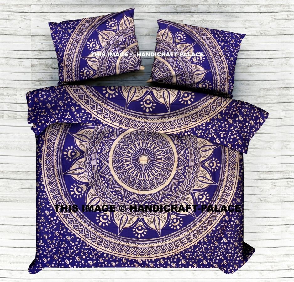 Kanchana Gold Ombre Mandala KING SIZE Duvet Cover. This is ...