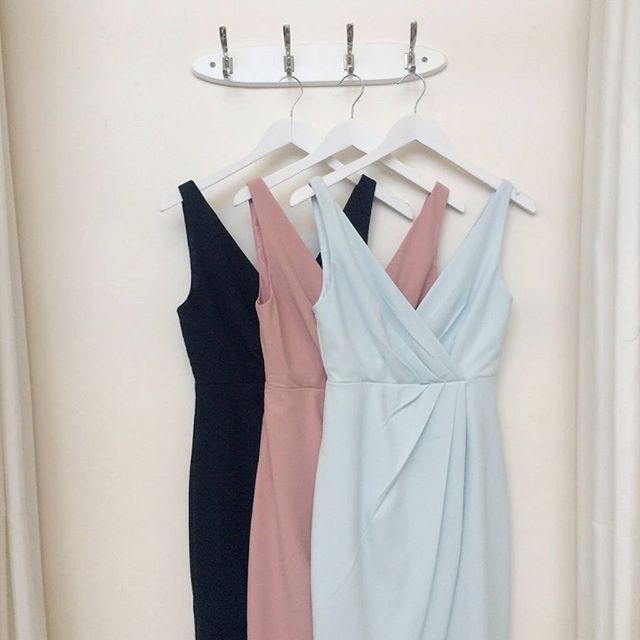Our pretty Lola Dresses in Navy, Dusty Pink and Seaforth ...