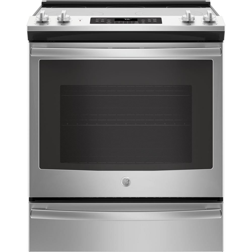Ge 5 3 Cu Ft Slide In Electric Range With Self Cleaning