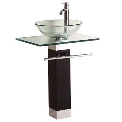 Kokols Pedestal Combo Bathroom Sink In Clear Wf 09 The Home