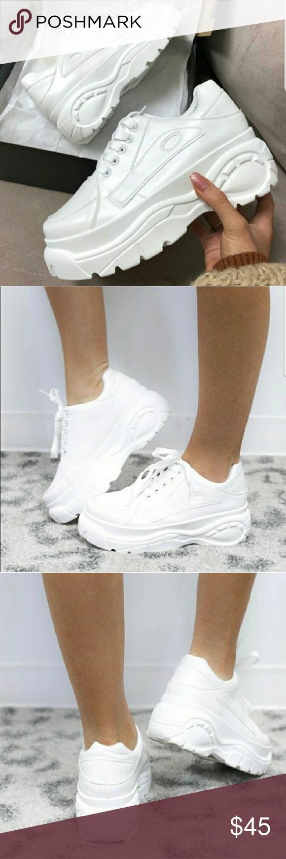 Qupid White Chunky Sneaker