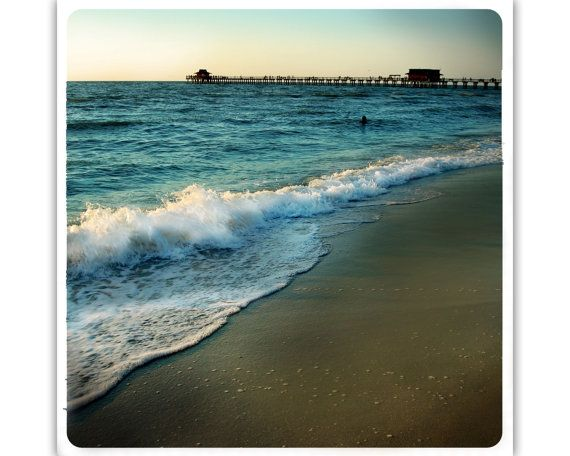 Naples Pier at Sunset  CANVAS PRINT by WhiteLyme on Etsy, love this$18.00