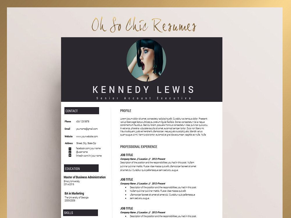 Instant Resume Templates Resume Template  Cv Template  Cover Letter  Instant Digital