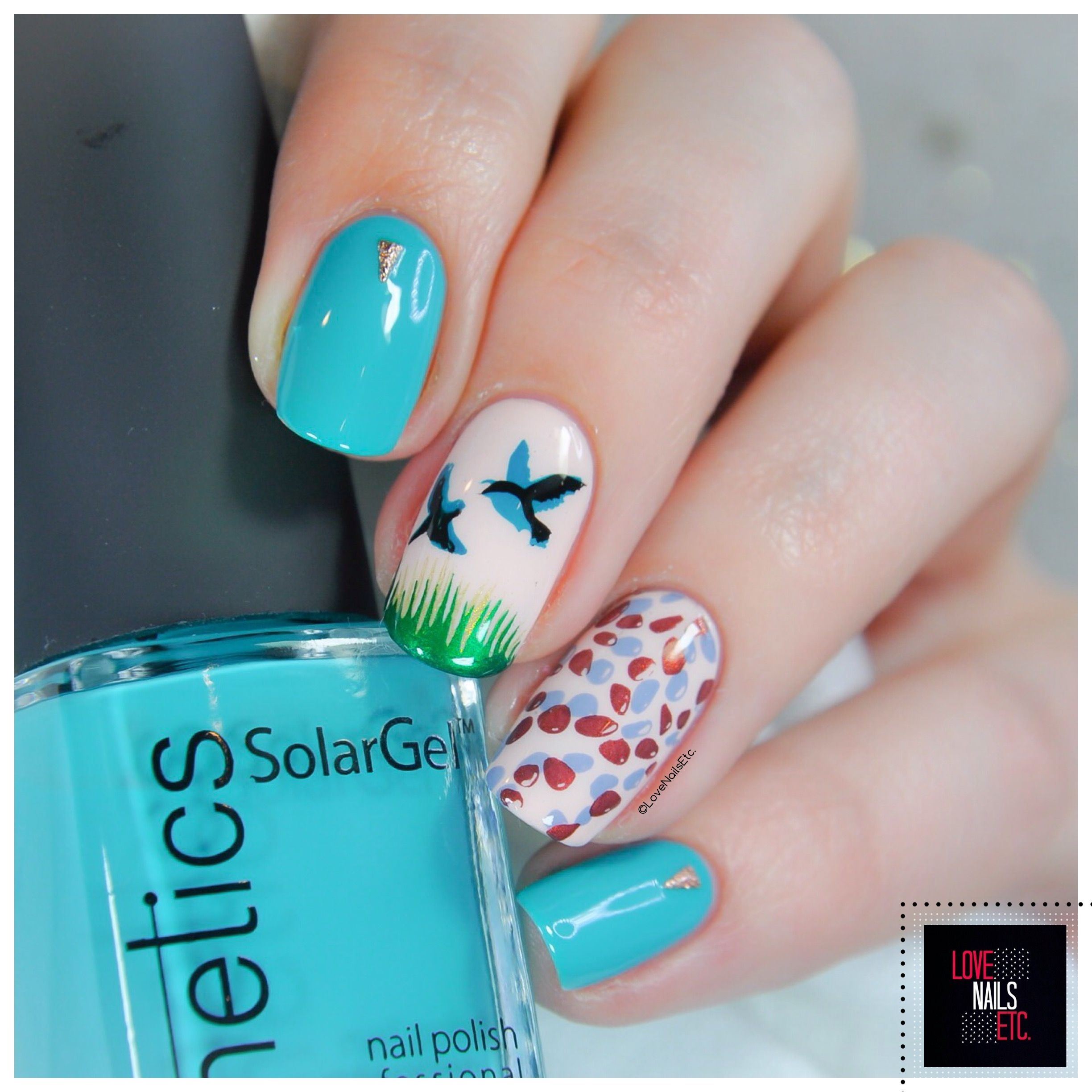 Nail Art Birds- Clear Jelly Stamper stamping plate - Kinetics Nails ...