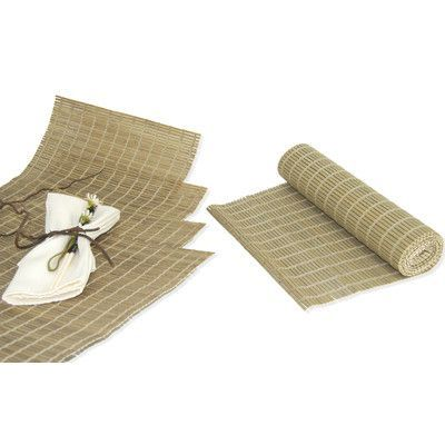 Versailles Home Fashions 5 Piece Runner and Placemat Set Color: Driftwood