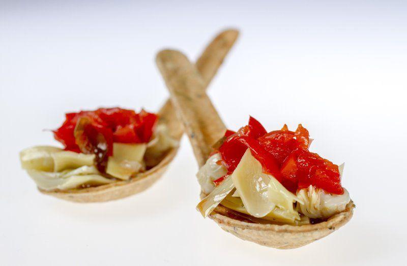 Artichoke, red pepper relish,giardinera with lemmon