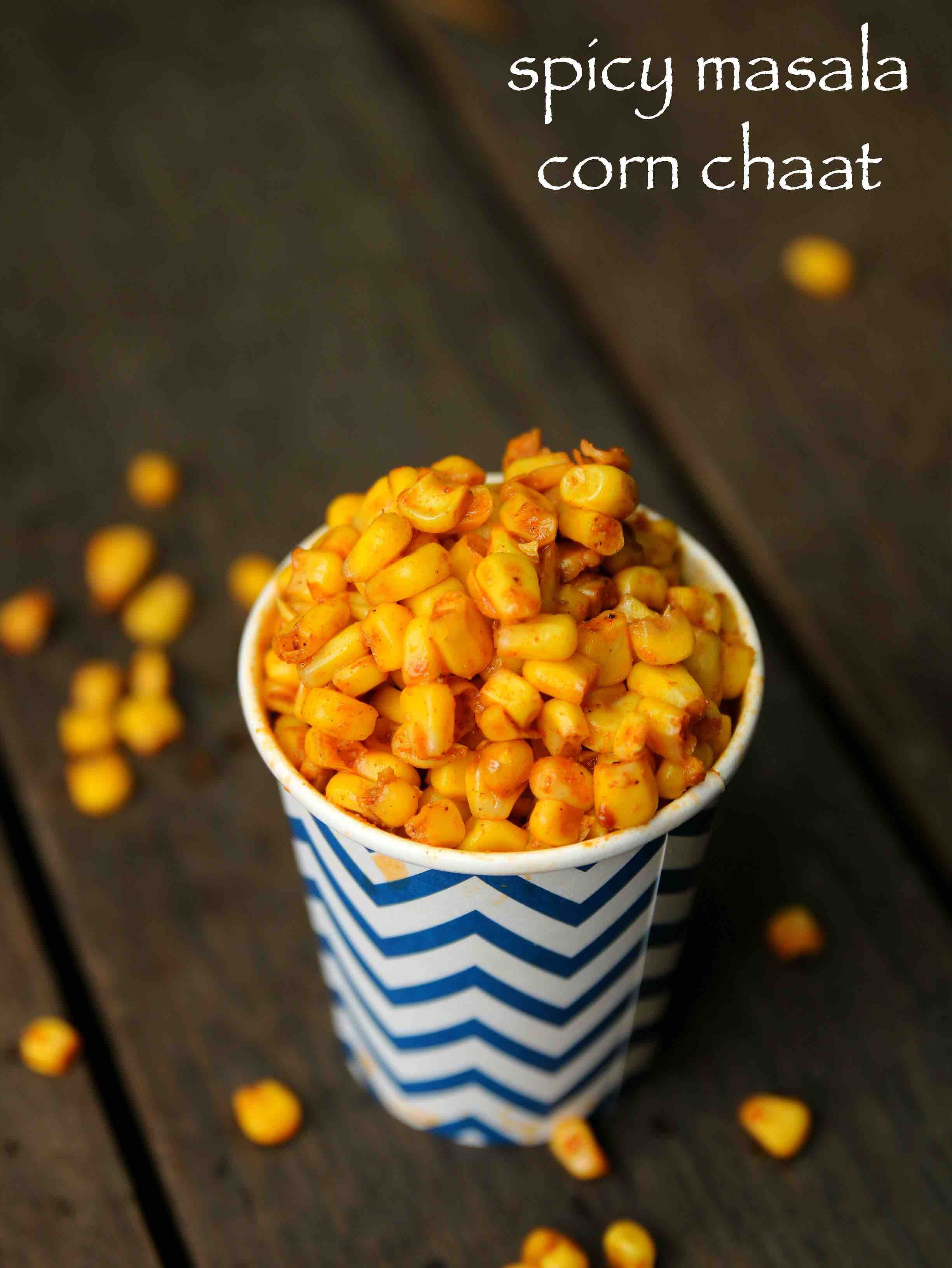 corn chaat recipe | masala corn recipe | spicy swe