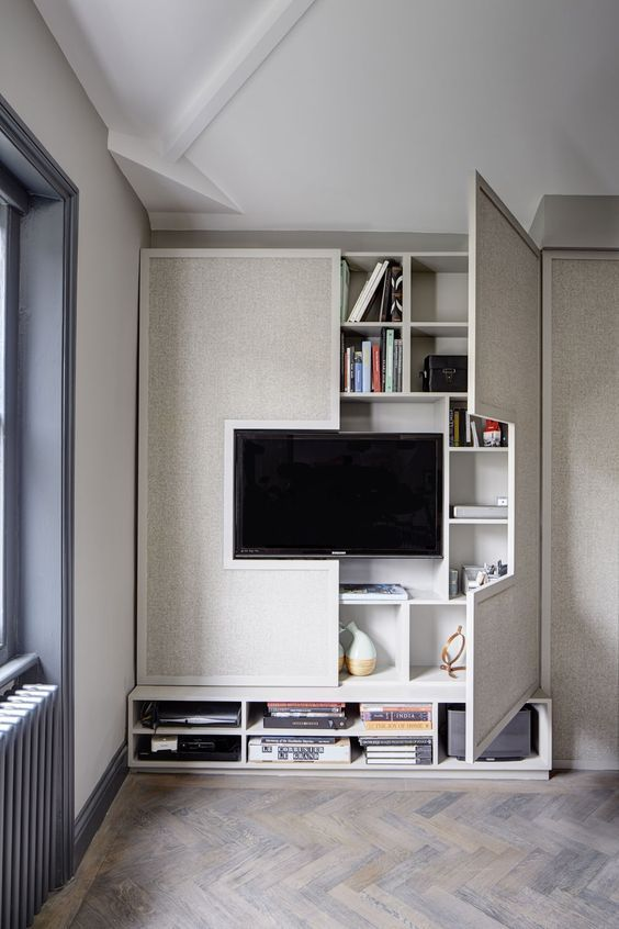 Ideias Painel De Tv Small Office Storage Ideas Bedroom For