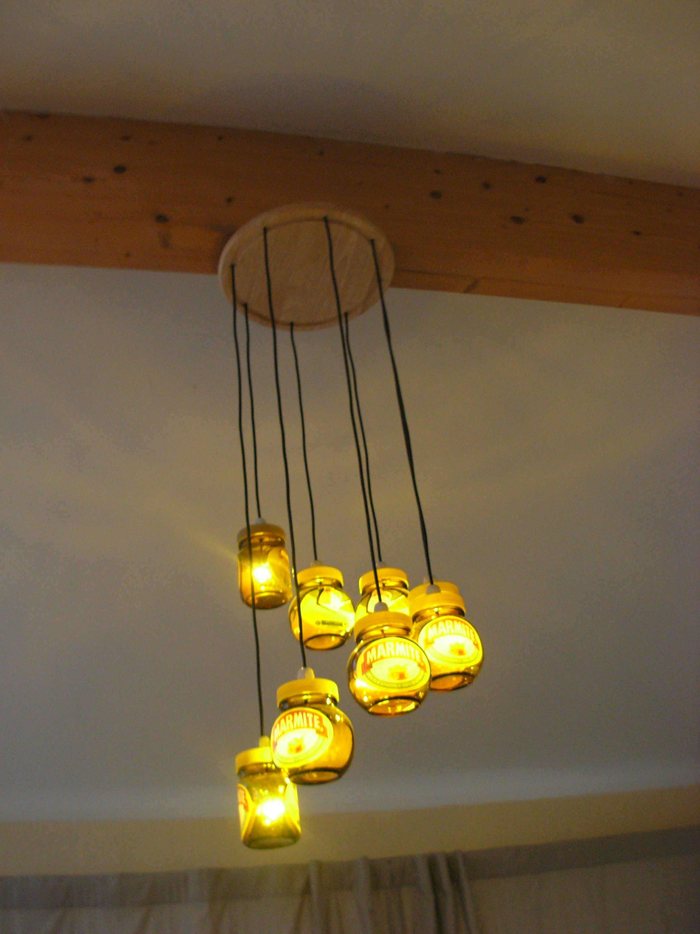 The Marmite Jar Chandelier in action MMMMARRMITE