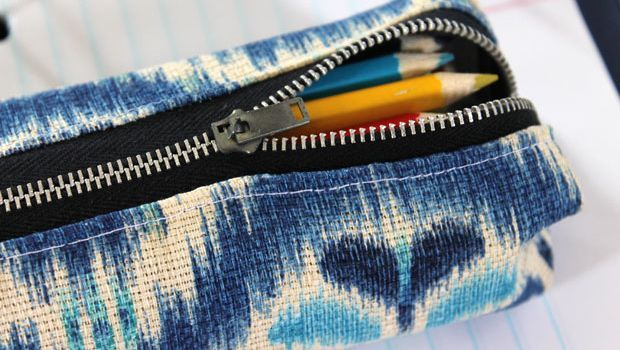 Sew your own pencil pouch.