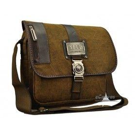 Canvas Satchel Bag Coffee Mens Briefcase Book