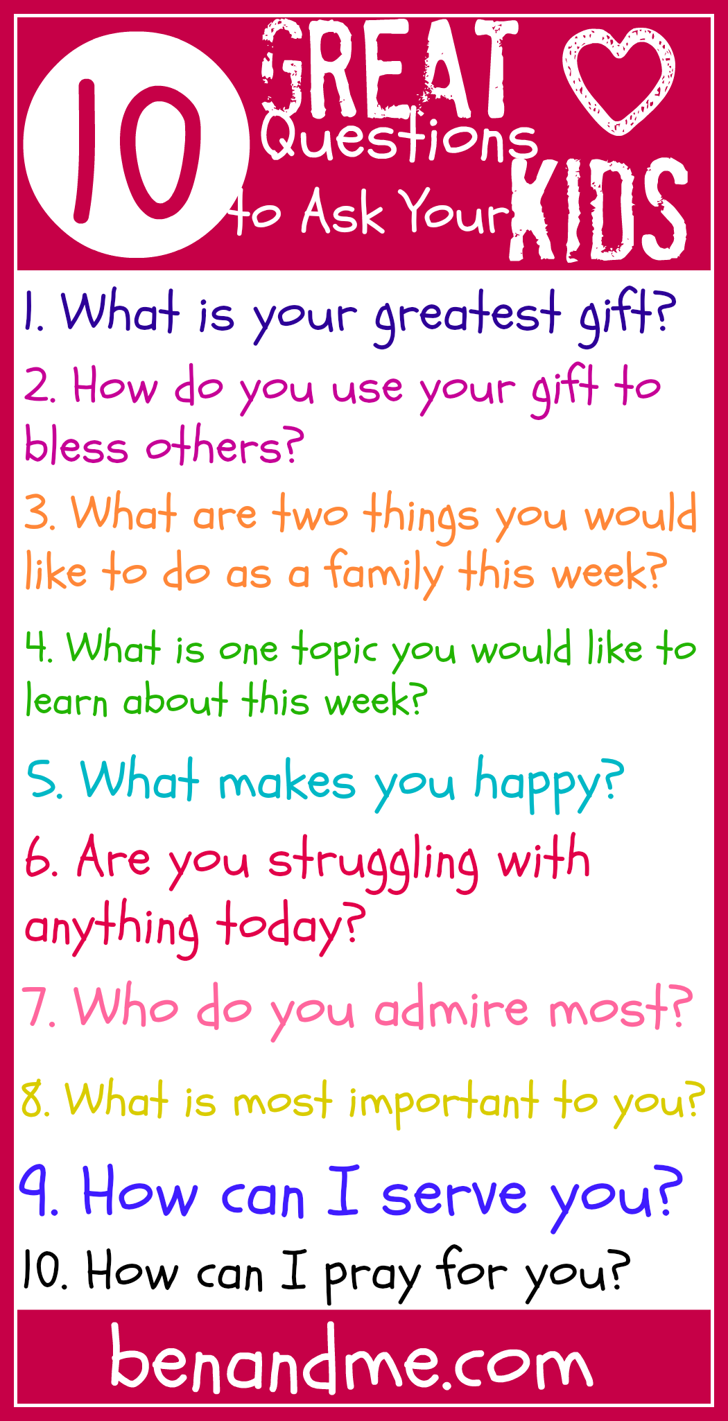 q is for 10 great questions to ask your kids