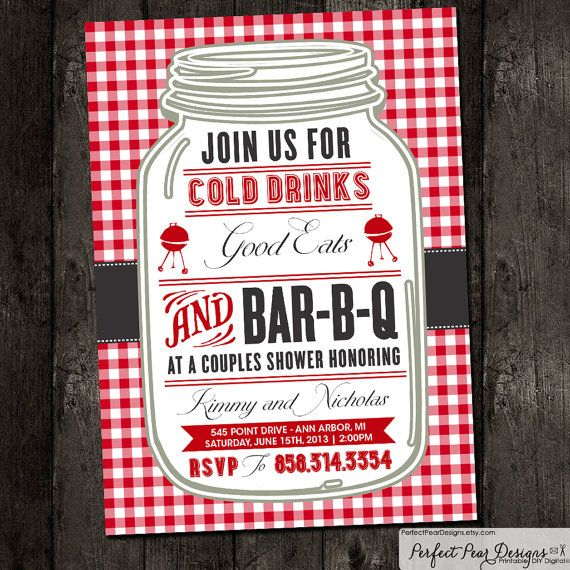 couples shower barbecue, business invitation, barbeque, bbq, Wedding invitations