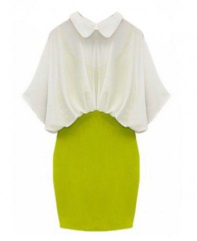 Contrast Color Block design High Waist Body-con Dress
