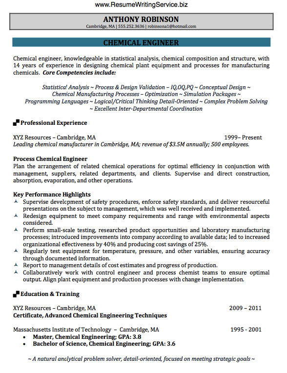 Chemical Engineering Resume Get Chemical Engineer Resume Sample Here Writing Service Inside