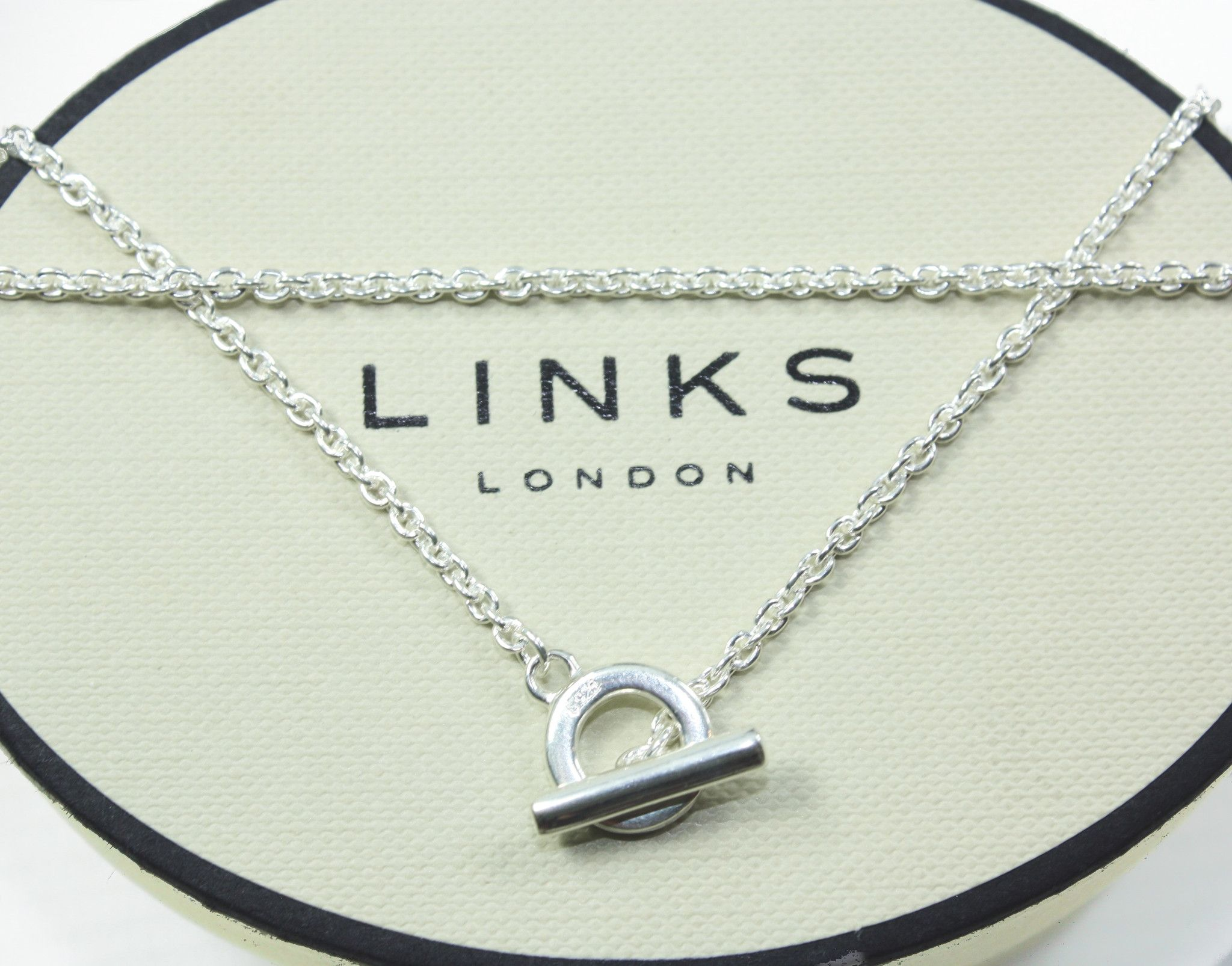 Links Of London Sterling Silver T Bar Chain Necklace 40 45 Or 50cm Lush Labels