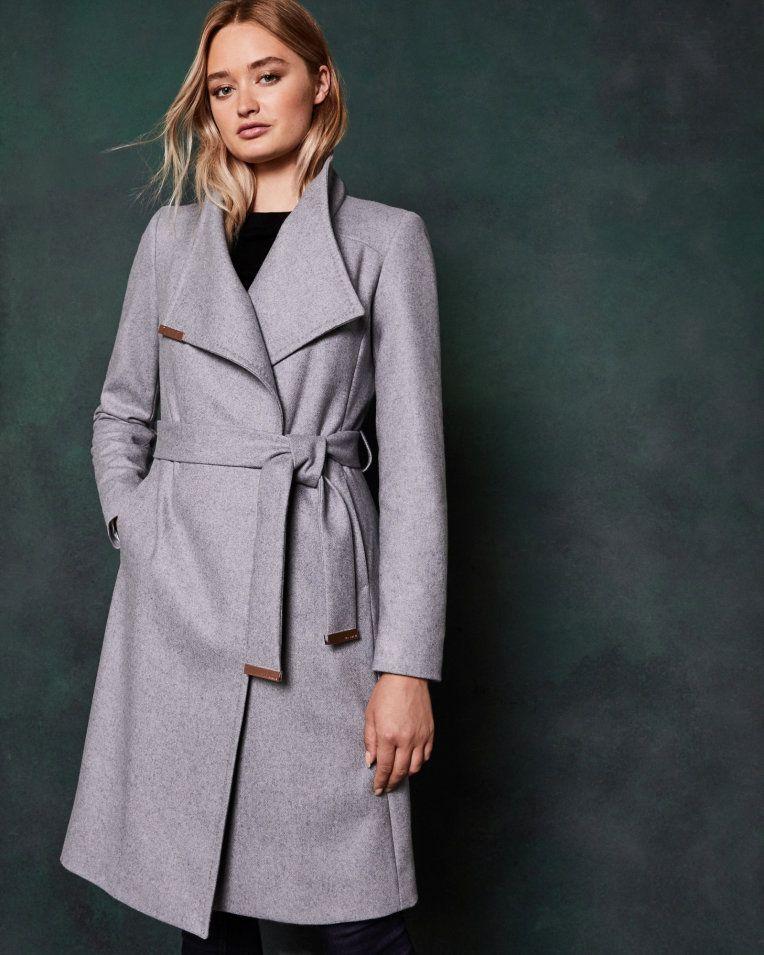 wrap coat Beige   Jackets & Coats
