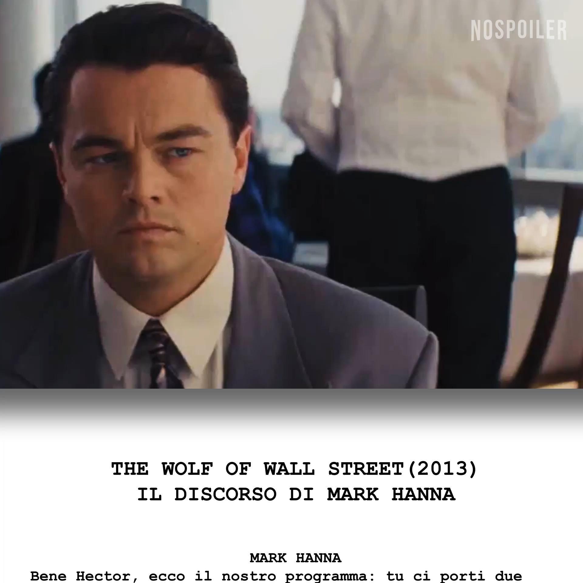 The Wolf Of Wall Street Il Discorso Di Mark Hanna Dialogo Video Matthew Mcconaughey Wall Street Film