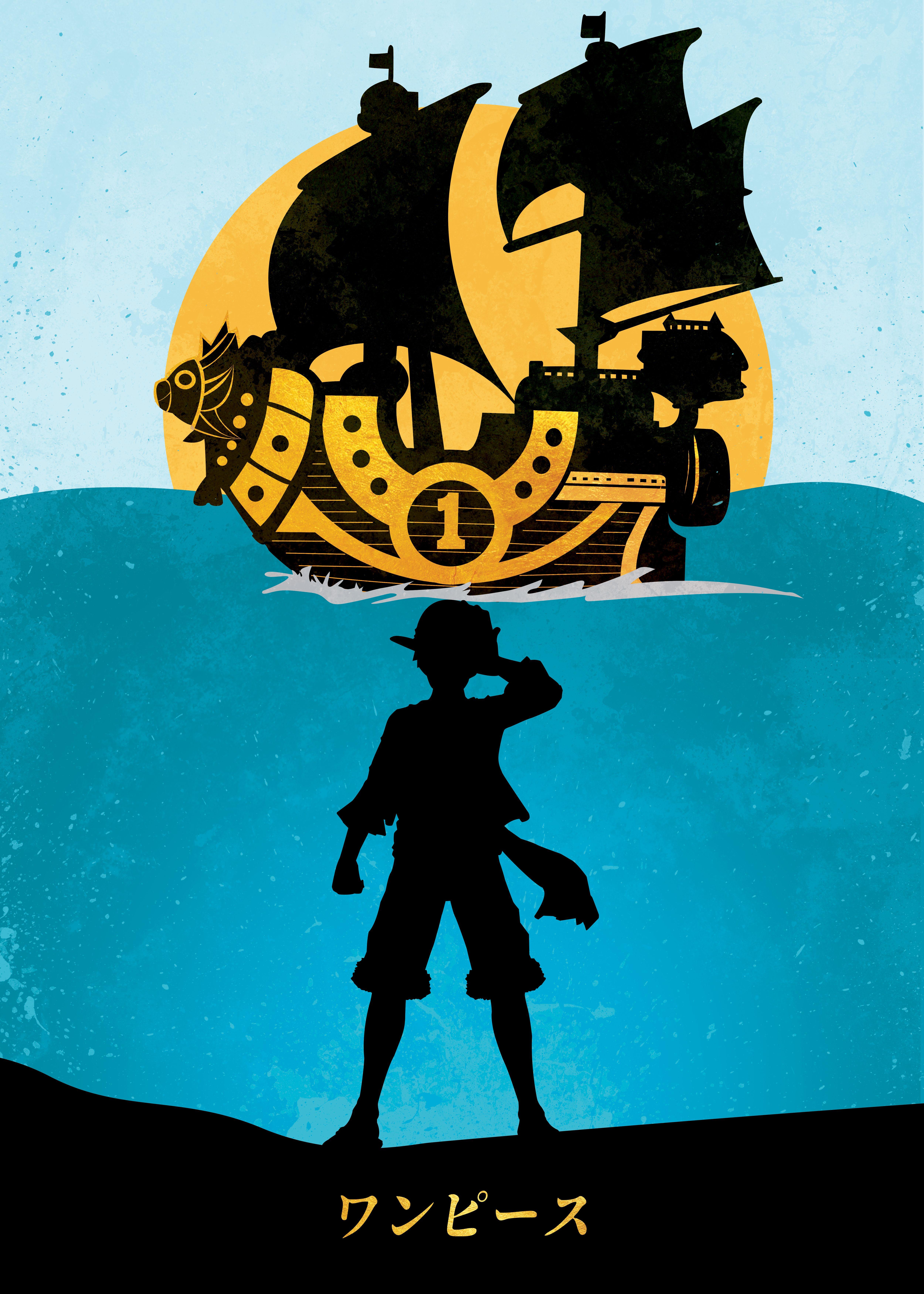 Journey Of A Pirate Metal Poster Sooru Displate One Piece Manga One Piece Comic One Piece Anime