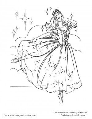 Barbie Ballerina Coloring Pages 2