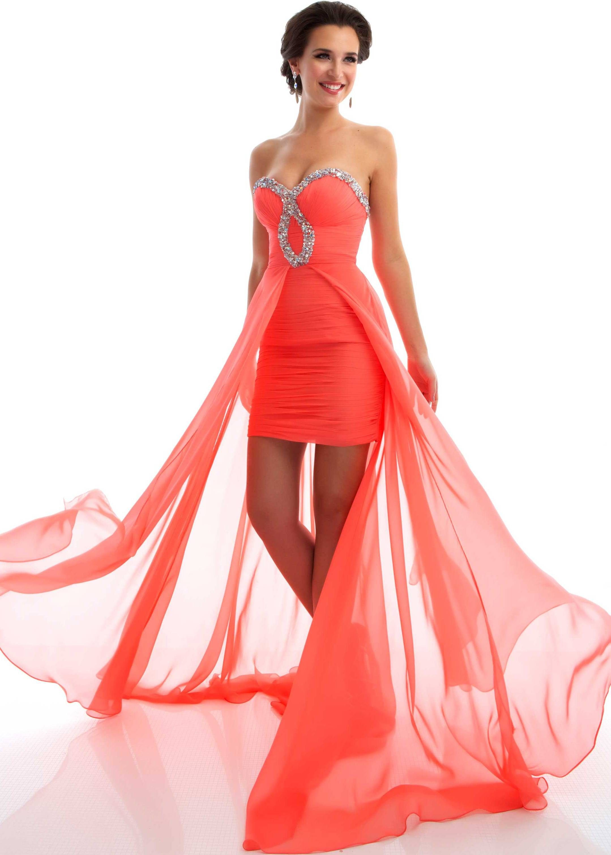 Lovely short in front sweetheart dress ZZ 340