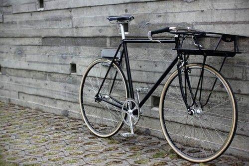 Black Porteur Urban Bicycle Urban Bike Fixed Bike