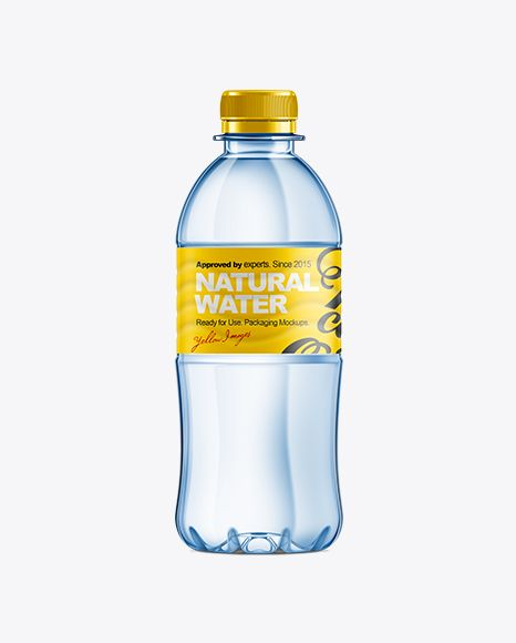 350ml Plastic Water Bottle Mockup. Preview
