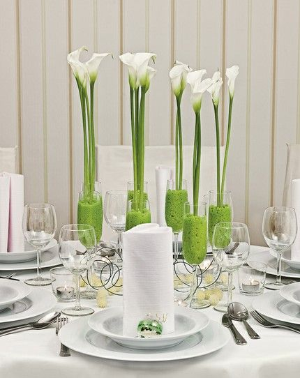 Pfiffig Mit Calla Tischdeko Wedding Wedding Decorations Und