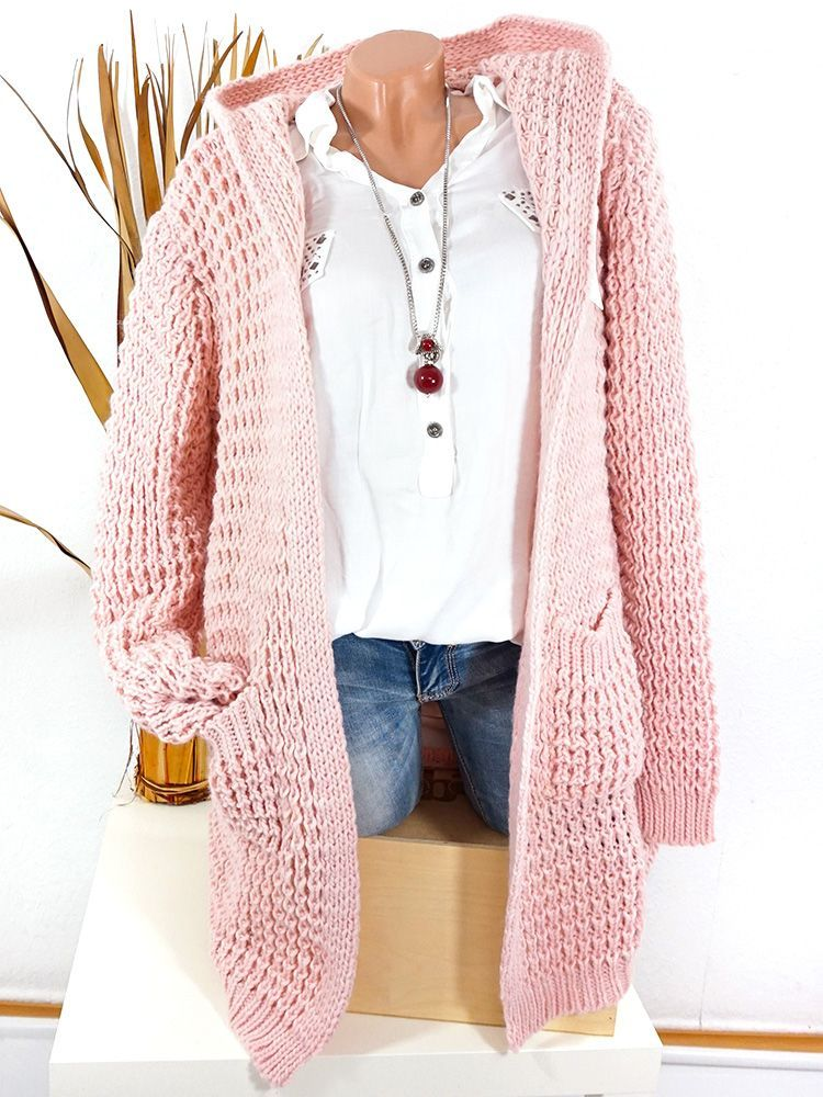 on sale c9ff7 40a61 Strickmantel Damen mit Kapuze Mantel / Cardigan #fashion ...