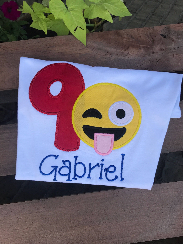 Fiestas Emojis Camisa Emoji Camisas Del Cumpleanos Numeros De