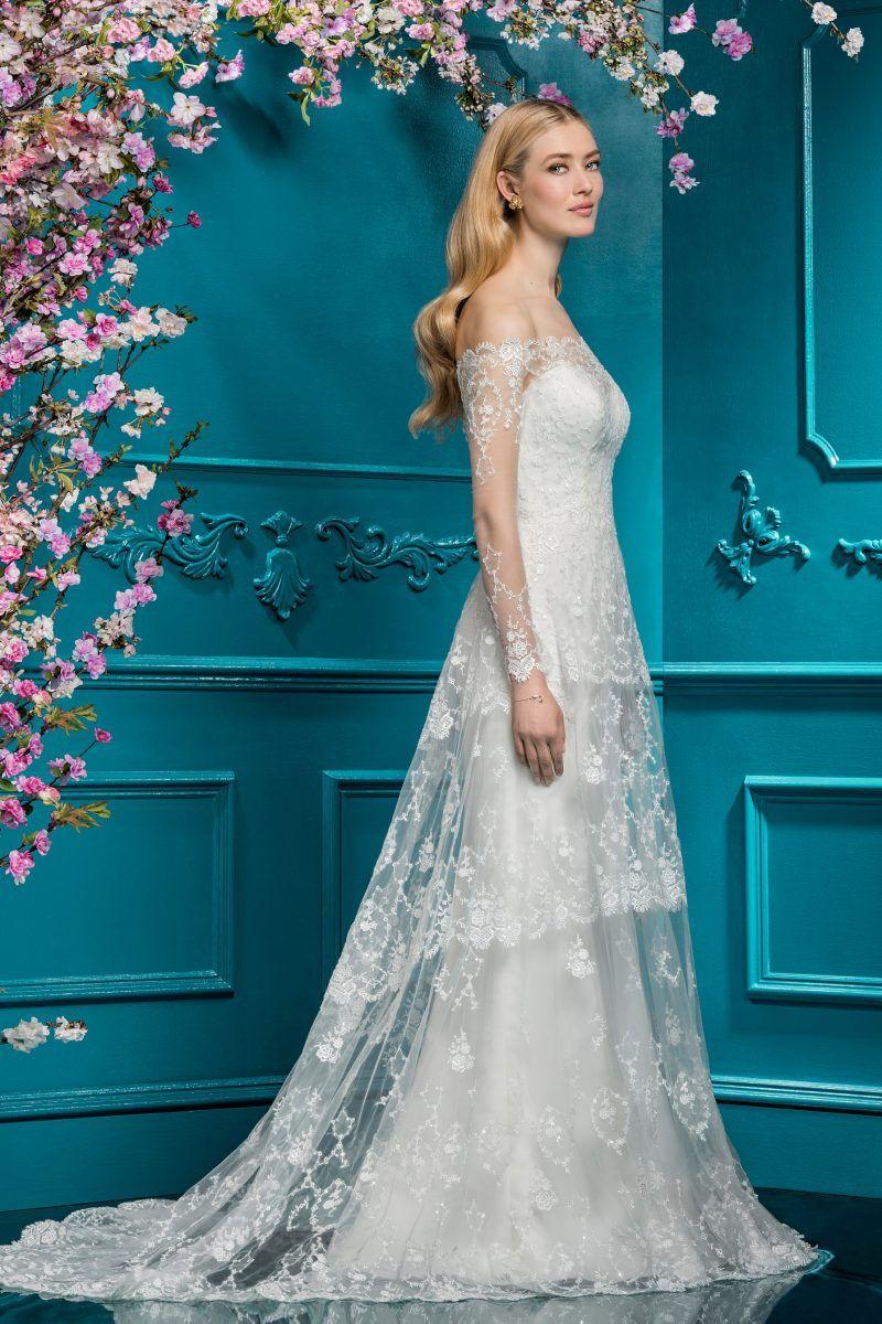 Lace A-Line Dress | Style 12287 | WEDDINGS | Pinterest | Ellis ...