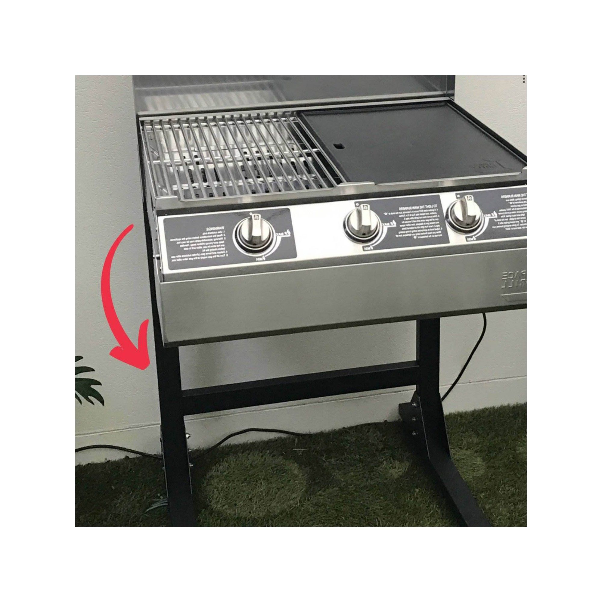 Space Grill Sg Standpb Lightweight Bracketed Outdoor Space Grill Stand Black Grill Stand Grilling Grill Accessories