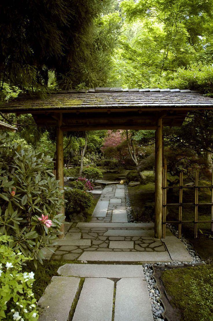 Stone Pathway & Gate, Japanese #Garden, Portland, Oregon #japangarden