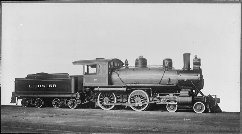 Ligonier Valley Railroad 17 Baldwin 4 4 0 Vintage Small Glass Negative Train Ligonier Military Vehicles